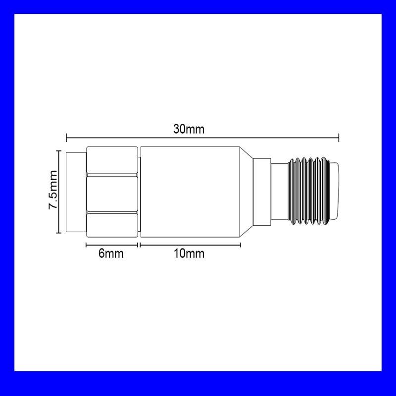 Бесплатная доставка, 1 шт. Dc-6g SMA золото изолятор постоянного тока, блок, высокого качества!