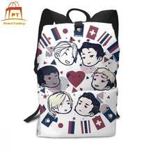 Yuri on ice рюкзак boys рюкзаки многофункциональные мужские