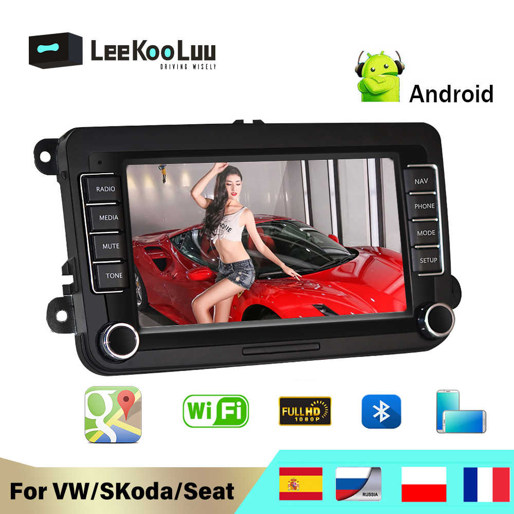 LeeKooLuu 2 Din Auto Radio Per Volkswagen Skoda VW Passat B6 Polo Golf Touran Sharan Jetta Caddy T5 Tiguan Bora car Multimedia