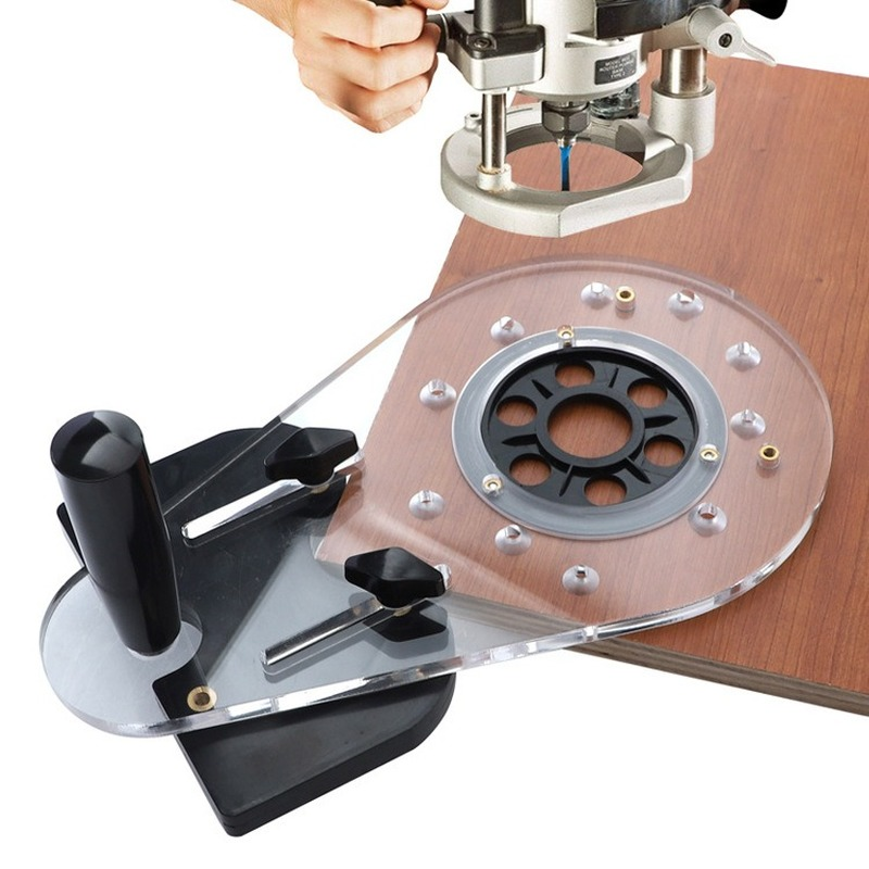 Tools : Woodworking Hole Punch Locator Circle Cutting Jig for Wood Routers Electric Hand Trimmers Woodworking Milling Circle Groove