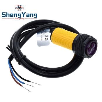 Fotoelektryczny czujnik zbliżeniowy do samochodu zdalnie sterowanego regulowany E18-D80NK podczerwień unikanie przeszkód zasięg wykrywania 3-80cm tanie i dobre opinie CN (pochodzenie) Czujnik promieniowy Porcelain Optyczny sensor elektroniczny Przetwornik przełącznika Czujnik optyczny
