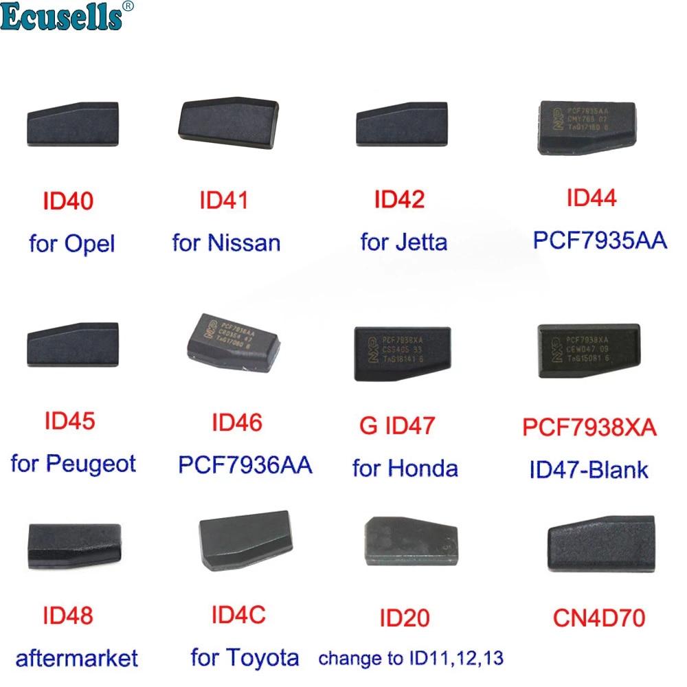 ID40 для Opel ID41 для Nissan ID42 для VW Jetta ID44 ID46 ID45 ID47 PCF7938XA для Honda ID48 ID20 ID4C CN4D70 ключевая микросхема транспондера