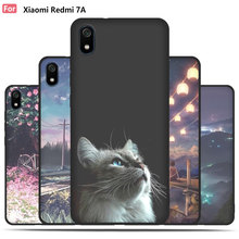 PPTANG phone-case black-cover for xiaomi redmi 7a Soft silicone cover Luxury soft tpu Painted