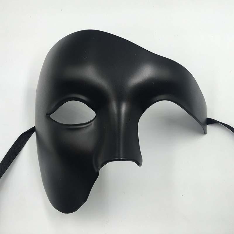 PVC Steampunk Phantom Masquerade Cosplay Mask Plastic Half Face Men/Women Punk Carnival Costume Props