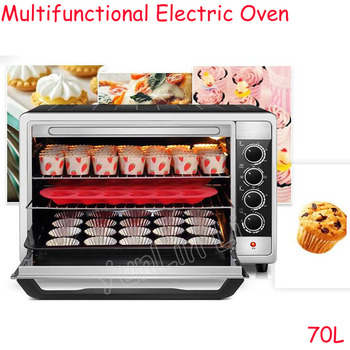 70L Multifunctional Electric Oven Large Capacity Household & Commercial Full Automatic Bread Cake Pizza Baking Machine bread machine the bread maker uses fully automatic and multifunctional intelligence sprinkled with fruit cake