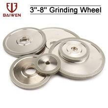 3/4/5/6inch Electroplated Flat Diamond Grinding Wheel 60mm-150mm Metal Milling Sharpener Grinder Accessories 100/150/180#