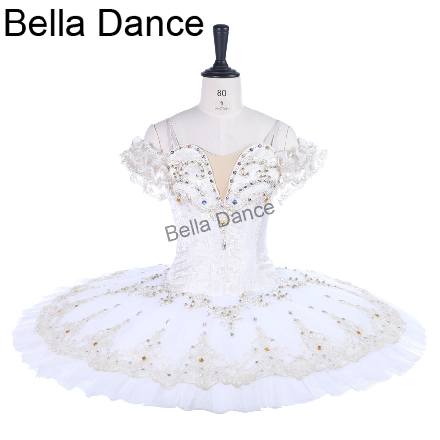 white professional tutu dress women classical Professional Ballet Tutus skirt Coppelia Swan Lake Ballet Costume for girlsBT9259