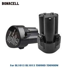 Сменный аккумулятор для Makita BL1013, 3000 мАч, 10,8 В, литий ионный аккумулятор для электроинструментов, TD090D, TD090DW, DF030D, LCT203W, BL1014, L50