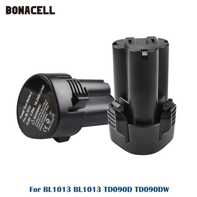 Makita BL1013 충전식 전동 공구 용 3000mAh 10.8V 리튬 이온 배터리 교체 TD090D TD090DW DF030D LCT203W BL1014 L50
