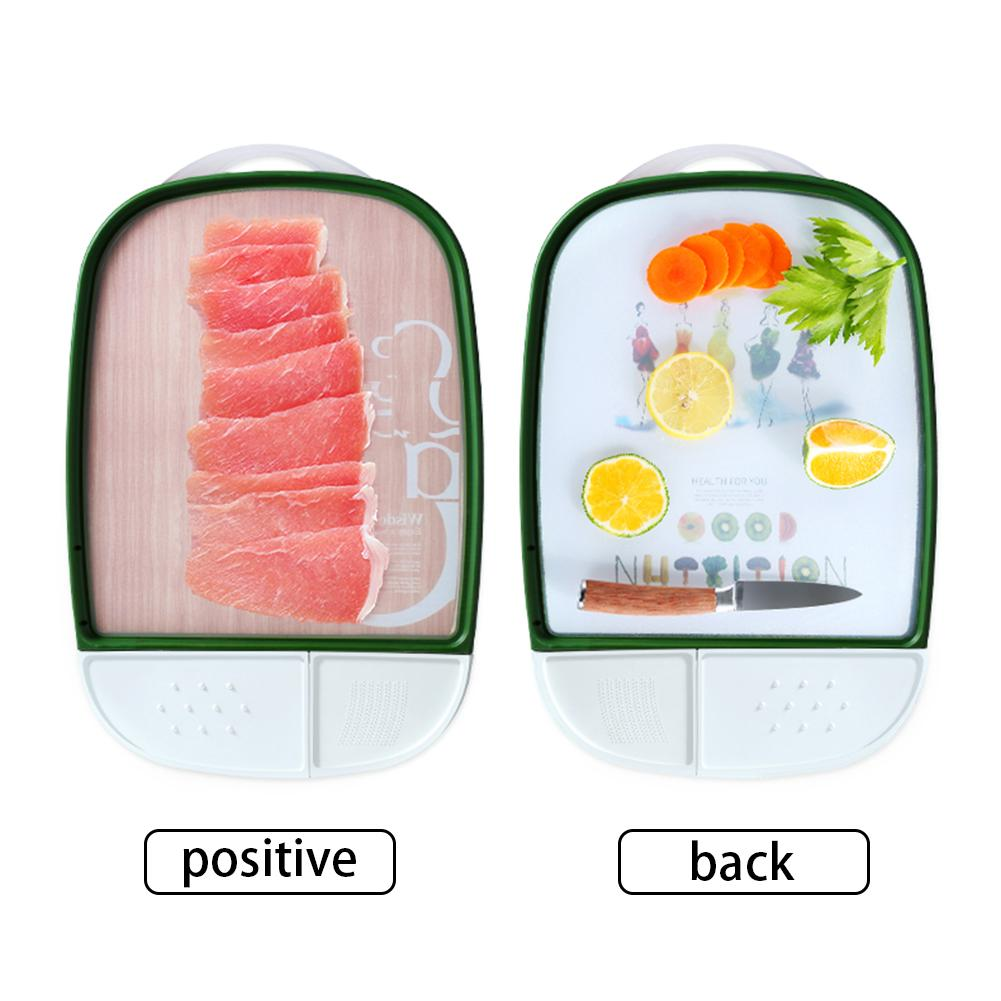 Double sided Multi function Cutting Board Kitchen Mildew Cutting Board Anti bacterial Chopping Blocks Fruit Vegetable Meat Tools in Chopping Blocks from Home Garden