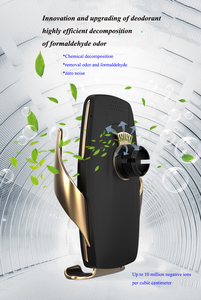Image 3 - 공기 청정기 자동차 무선 충전기 제나라 자동 클램프 빠른 충전 마운트 화웨이 P30Pro Mate30 iphonex11 XR XS MAX X