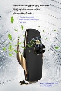 Image 3 - אוויר מטהר רכב מטען אלחוטי Qi אוטומטי מהדק תשלום מהיר הר עבור Huawei P30Pro Mate30 Iphone11 XR XS מקסימום X