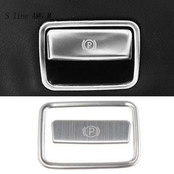 Car styling The foot brake release switch frame Trim Covers Sticker For Mercedes Benz CLA C117 GLA X156 A Class W176 Accessories