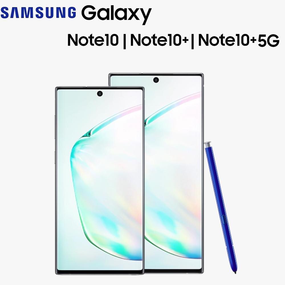 Novo original samsung galaxy note 10 | 10 + | 10 + 5g s caneta infinity display na tela impressão digital android telefone móvel inteligente s caneta