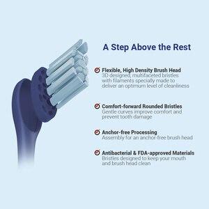 Image 5 - חדש הגלובלי גרסה Oclean X פרו כחול חשמלי מברשת שיניים מגע מסך IPX7 מהיר טעינה חכם סוניק חשמלי מברשת שיניים למבוגרים