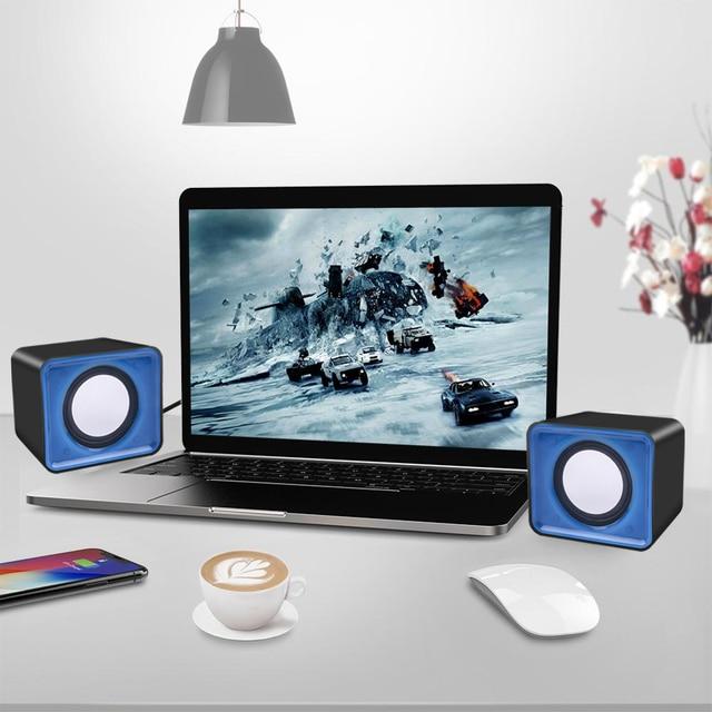 kebidu Universal USB 2.0 Music Speaker Mini Music Stereo Speakers 3.5mm Pulg For Multimedia Desktop Computer Notebook 5
