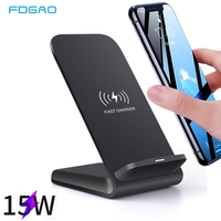 FDGAO 15W Qi Wireless Charger Stand For iPhone 11 Pro XR 8 X XS MAX QC 3.0 Fast Charging Dock Phone Holder For Samsung S10 S20|Wireless Chargers| |  -