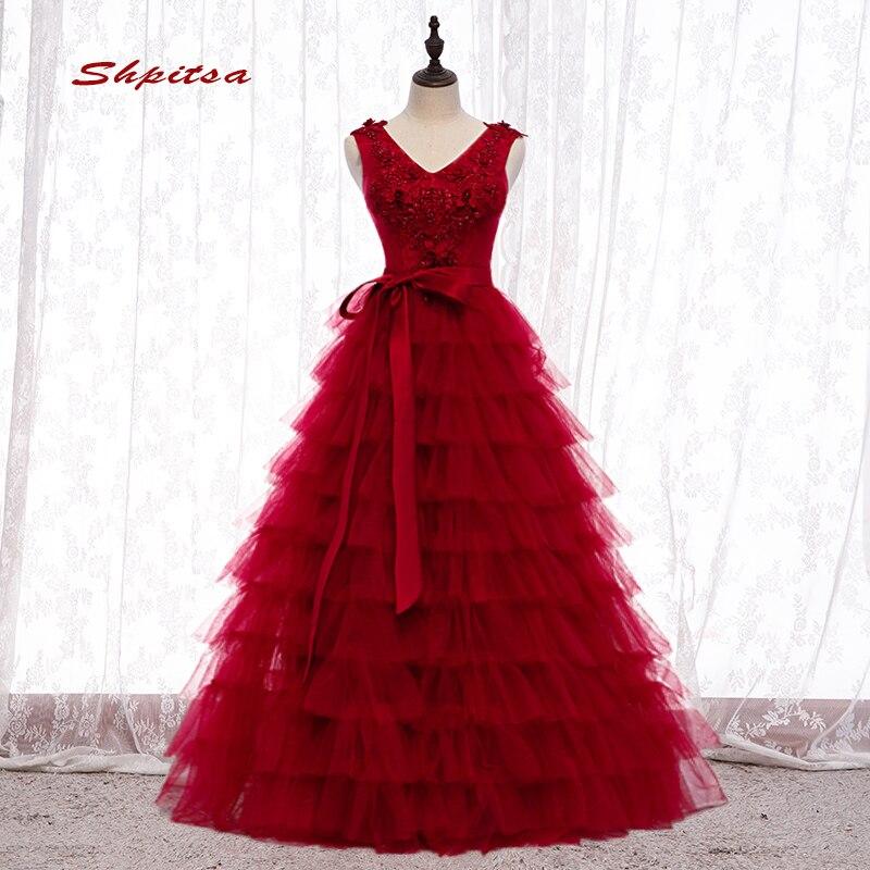 Rouge bouffi Quinceanera robes robe de bal 2019 doux seize 16 princesse robes de bal robe pour 15 ans