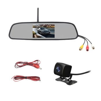 4.3 Inch HD 800X480 Car Wireless Wifi Video Player Monitor Interior Rear View Mirror with Night Reverse Backup Camera