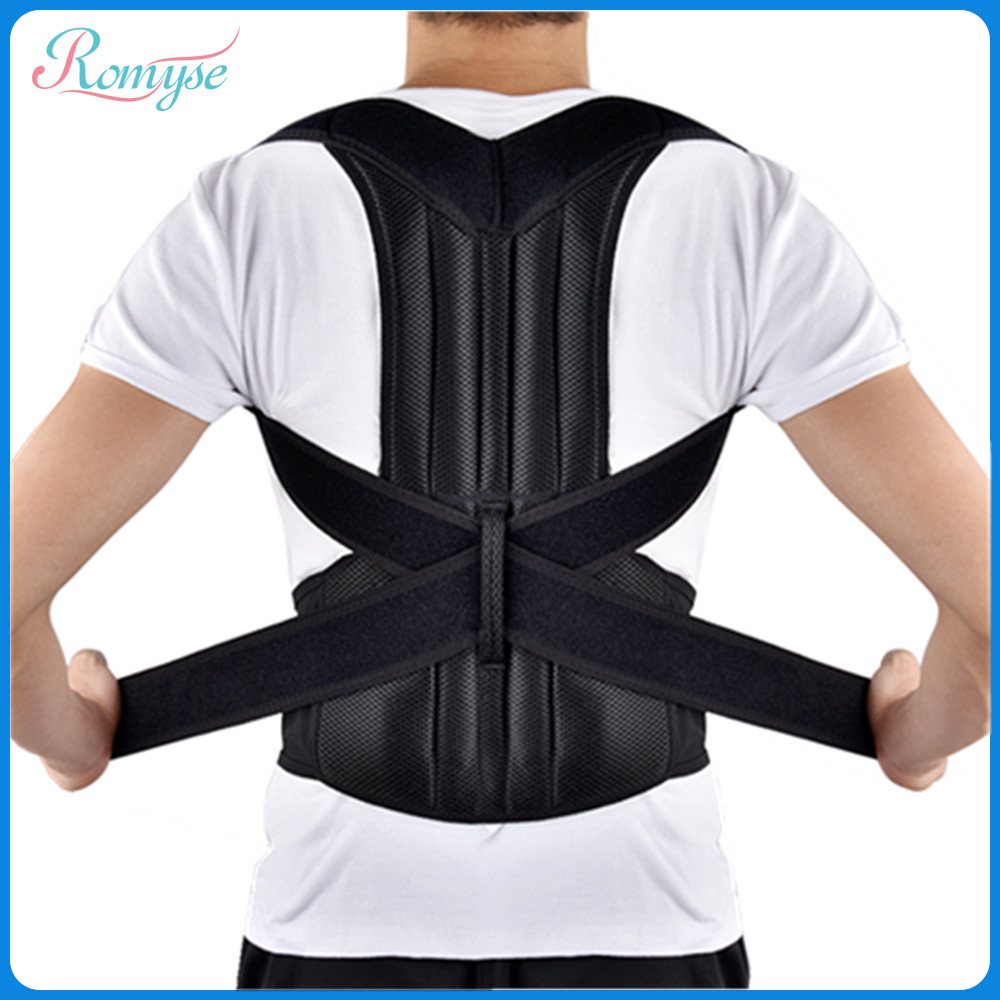 Bretelle d'épaule réglable soutien lombaire colonne vertébrale Posture correcteur dos lisseur sangle ceintures pour hommes femmes étudiant