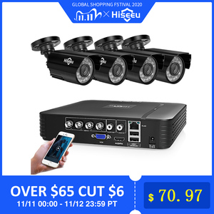 Image 1 - Hiseeu Home Security Cameras System Video Surveillance Kit CCTV 4CH 720P 4PCS Outdoor AHD Security Camera System