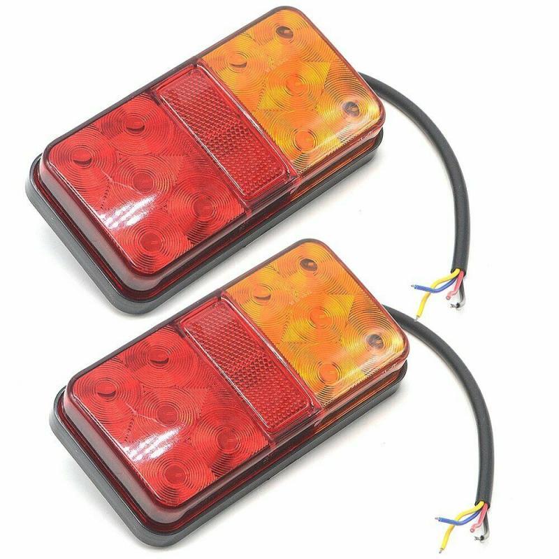 Новинка, 1 пара 12V Водонепроницаемый прочный автомобиль грузовик светодиодный задний светильник Аварийные огни Задний фонарь для прицепов, ...