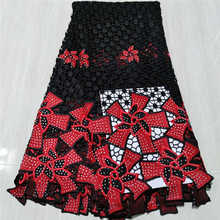 Classic Grade Guipure Lace Soft Embroidery Elegant High-End Quality African Cord Lace Fabric For Wedding Dress NN952-6