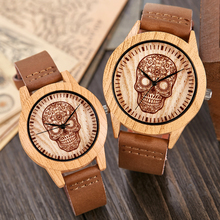 Wooden Watch Men Ostrich Deer Wristwatch Imitation Imitate Wood Case Quartz Soft