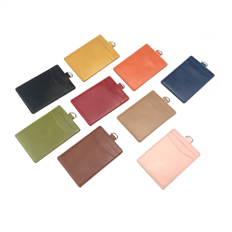 Customizable Top Grade Leather Card Holder Certificate Card Sleeve Badge New Style Student's Identification Card Bus Creative Ac