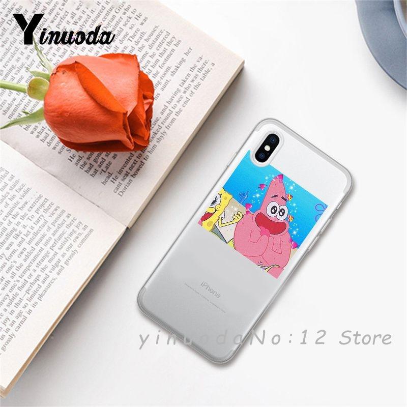 Yinuoda супер милый кот собака мультфильм розовый в форме сердца ты и я серия HD Прозрачный чехол для телефона для iphone 6 7 8 Plus X XS XSMax 5S - Цвет: 20