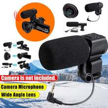 Universal Camcorder Video Camera 0.39X Wide-angle Lens Small Large Microphone fo