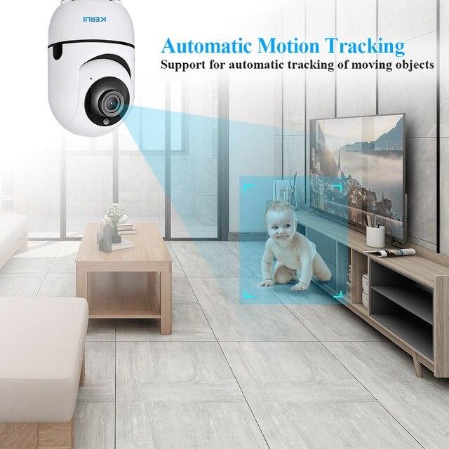 KERUI Tuya Smart Home Security WIFI Alarm System Works With Alexa 120dB Motion Detector Door Sensor Surveillance Camera 6