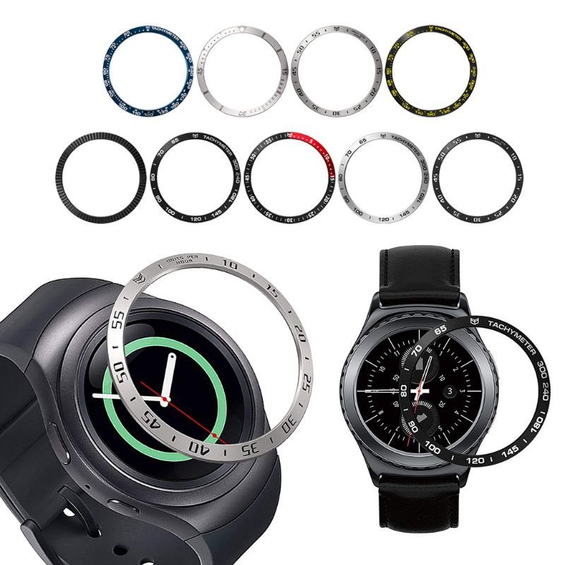 Anti Scratch Metal Bezel Ring Adhesive Cover Replacementfor Samsung Galaxy Watch Active/Gear Sport 42MM Accessories