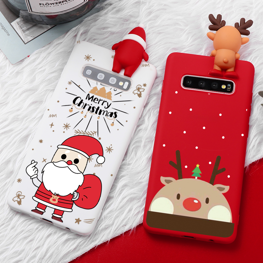 3D Christmas Bear <font><b>Cartoon</b></font> Silicone <font><b>Case</b></font> For Samsung Note 10 Pro A10S A30 <font><b>A50</b></font> A70 S7 Edge S8 S9 S10 Plus A8 A6 A7 A9 2018 Cover image