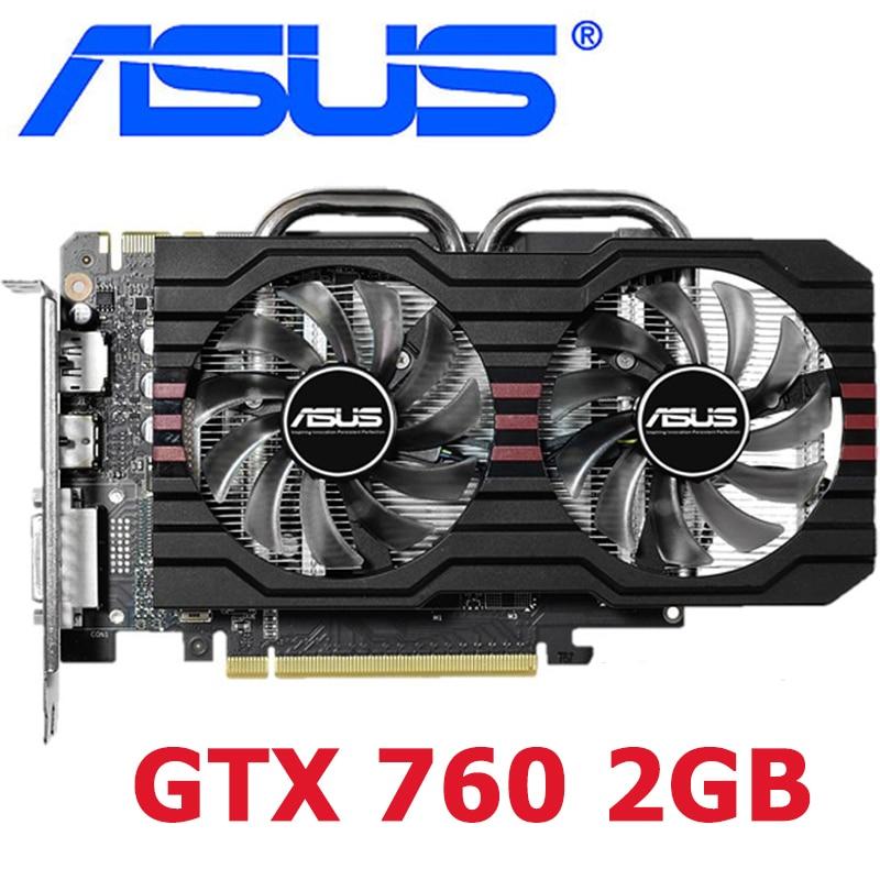 Видеокарты ASUS GTX 760 2 Гб 256Bit GDDR5 видеокарта для nVIDIA VGA карты Geforce GTX760 2 Гб сильнее, чем GTX750 TI 650 б/у