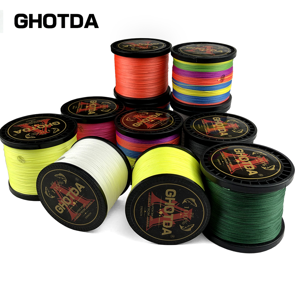 New Brand Woven wire 1000M-100M <font><b>PE</b></font> Braided Fishing Line <font><b>4</b></font> strands 18 28 35 40 50 60 80LB 120LB Multifilament Fishing Line image