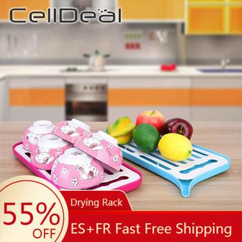 CellDeal suszarka do naczyń nad zlewem składana suszarka do naczyń do korzystania w kuchni mata susząca kuchenna suszarka do naczyń suszarka do naczyń akcesoria kuchenne tanie i dobre opinie CN (pochodzenie) Z tworzywa sztucznego