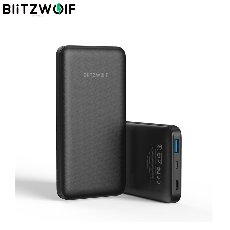 BlitzWolf BW-P9 18W 10000mAh USB PD QC 3.0 Power Bank Type C Fast Charging Dual For IPhone 11 For Samsung For Xiaomi For Huawei