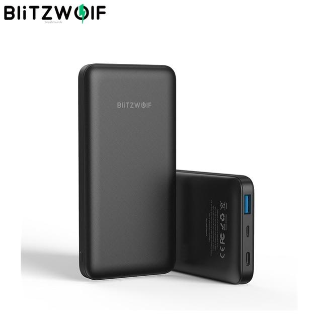 BlitzWolf BW P9 18W 10000mAh USB PD QC 3.0 batterie dalimentation Type C charge rapide double pour iPhone 12 Pro Max pour Xiaomi pour Huawei