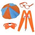 4 шт./компл. Blippi одеваются комплект Blippi шапка галстук-бабочка очки Blippi на день рождения вечерние украшения Воздушные шары Blippi; Аксессуары для...