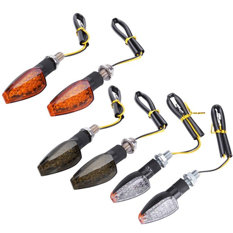 2 sztuk uniwersalny 12V migające kierunkowskazy motocykl światła LED tylne migacz wskaźnik ogon światło dla Cafe Racer Honda BMW Yamaha