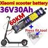 Original novo 36v 30ah 36v bateria 30000mah scooter elétrico com embutido bms para xiaomi m365 pro bateria dedicada