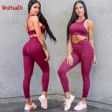 Wohuadi комплект из 2 предметов для йоги женский спортивный
