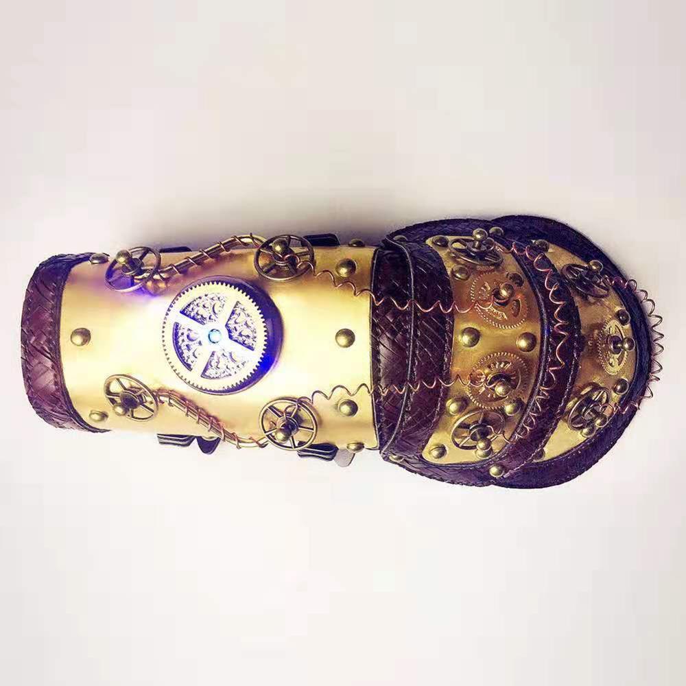 Nouveau gothique Steampunk Cool brassards Vintage PU cuir bras bande bracelet manche roue de vitesse Style Punk accessoires offres spéciales