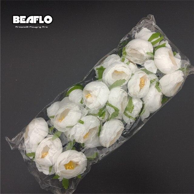 30 sztuk herbata pąk róży sztuczne kwiaty na ślub strona główna biżuteria dekoracyjna akcesoria Fleurs Scrapbooking DIY zapasy rzemieślnicze