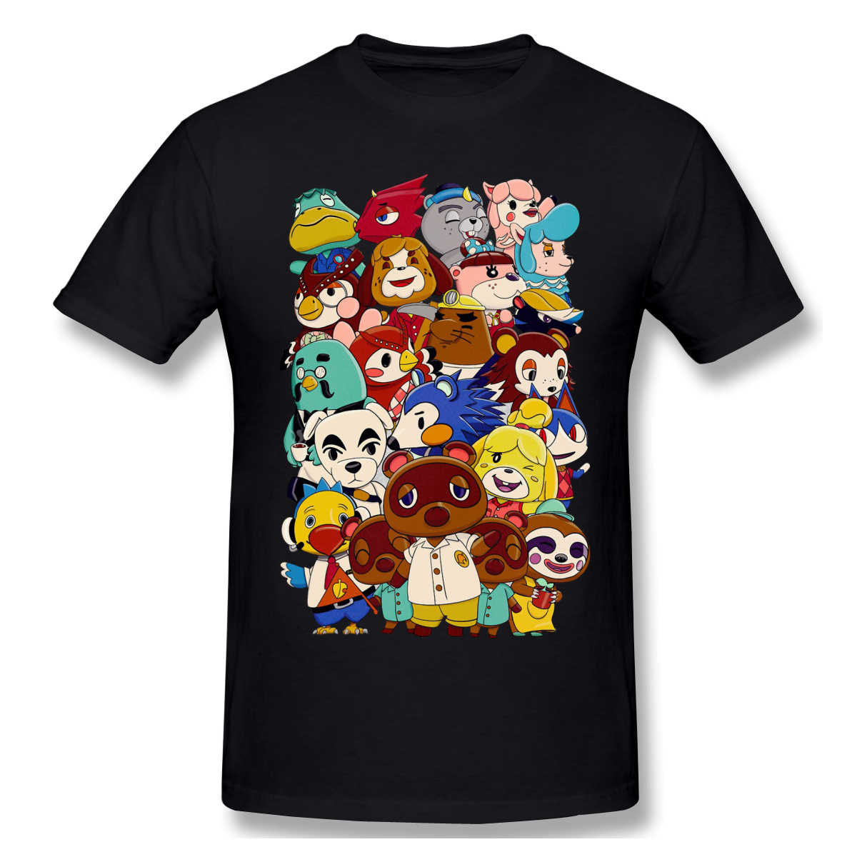 Die Charaktere Lustige T-Shirt Männer Sommer O Neck Casual Baumwolle T Shirt Graphic Tee animal crossing new horizons Crew Neck top