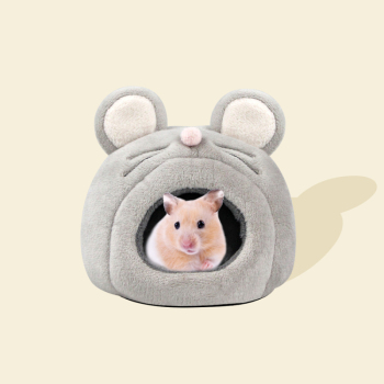 Hamster House Guinea Pig Accessories Hamster Cotton House Small Animal Nest Winter Warm Cage Cave Bed Little Mouse Cat Accessor image
