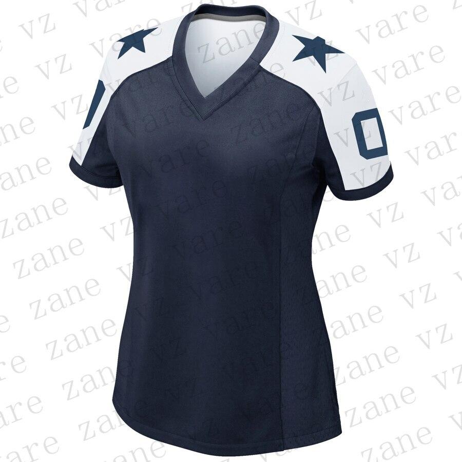 Customize Womens American Football Jerseys Dak Prescott Amari Cooper Deion Sanders Ezekiel Elliott E Smith Cheap Dallas Jersey