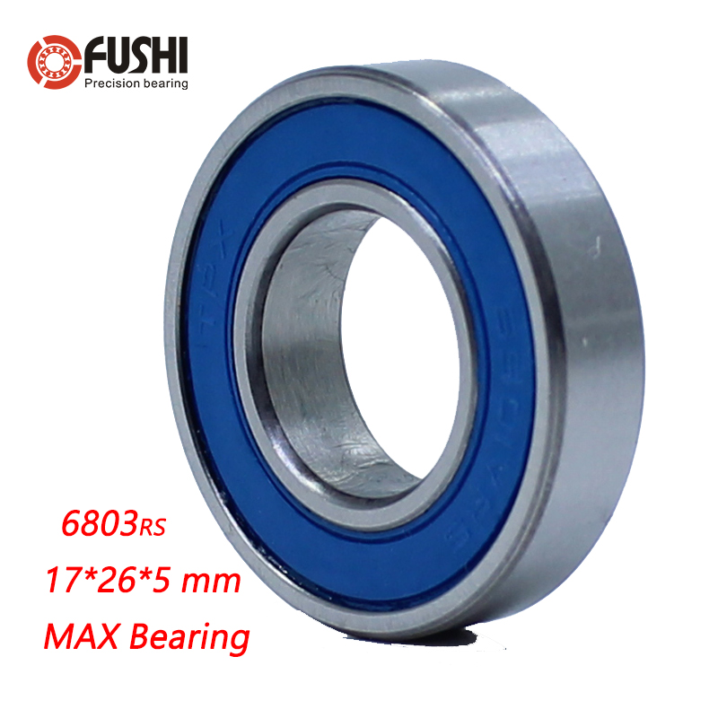6803-2RSV MAX Bearing 17*26*5mm ( 1 PC ) Full Balls Bicycle Pivot Repair Parts 6803 2RS RSV Ball Bearings 6803-2RS