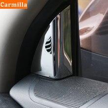 Carmilla 2 Teile/satz ABS Chrom Aufkleber für Kia Sportage 3 R 2011   2015 EINE Spalte Vorne Fenster Innen Interieur schutz Abdeckung Trim